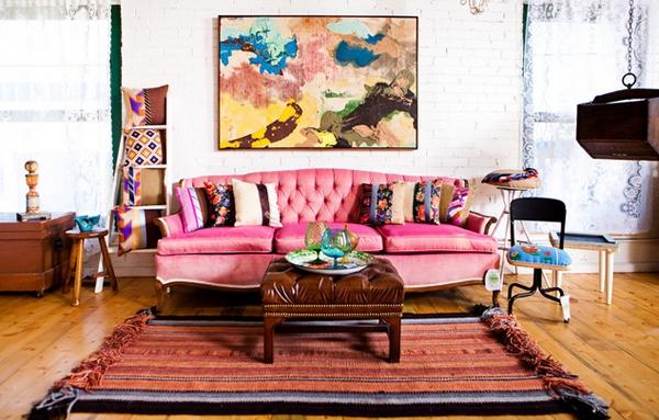 Desain Ruang Tamu Pink Cantik