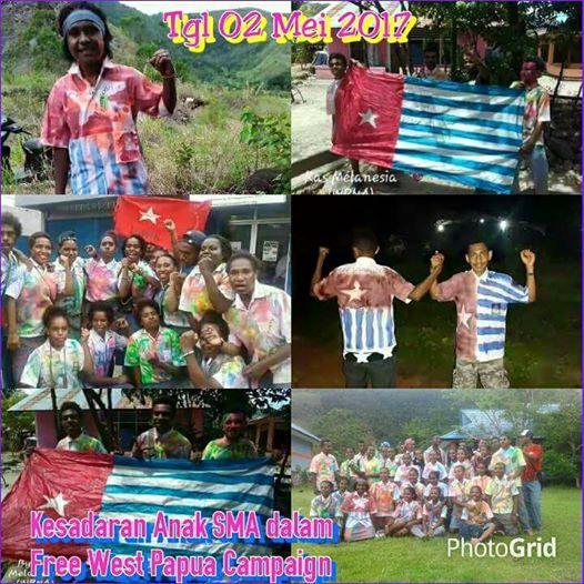 Salut! Lulus SMA Gambar Baju BK dan Berfoto Dengan Bendera Papua