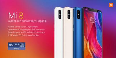 Harga Dan Spesifikasi Xiaomi Mi 8, Mi 8 Explorer Edition dan Mi 8 SE