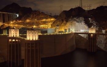 Wallpaper: Hoover Dam at Sunset