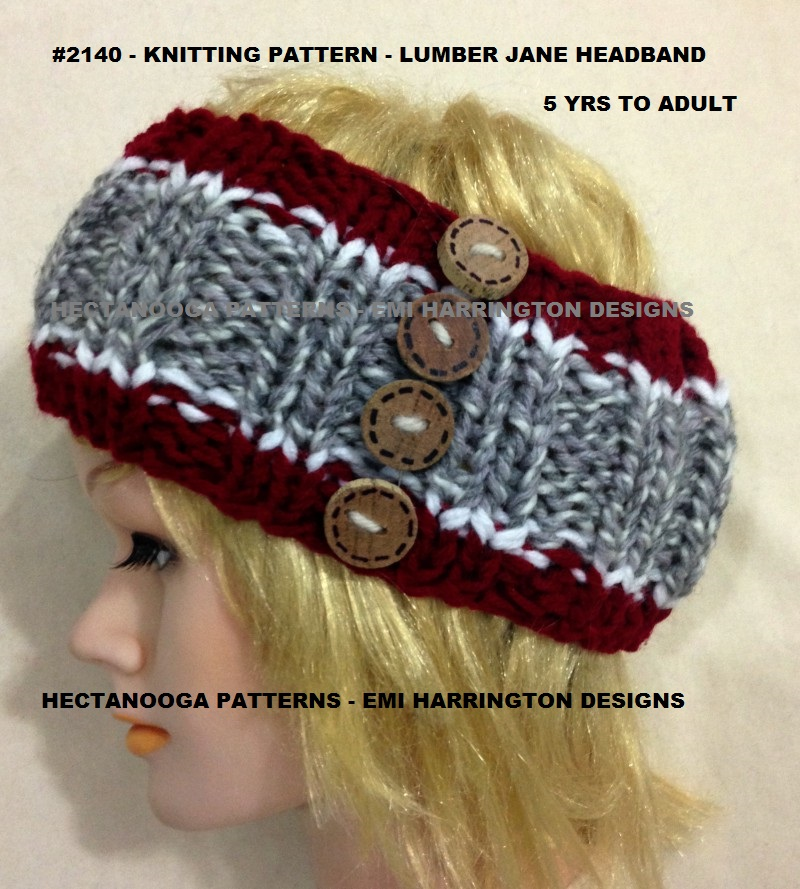 Hectanooga Patterns Free Knitting Pattern Lumberjack Jane Headband