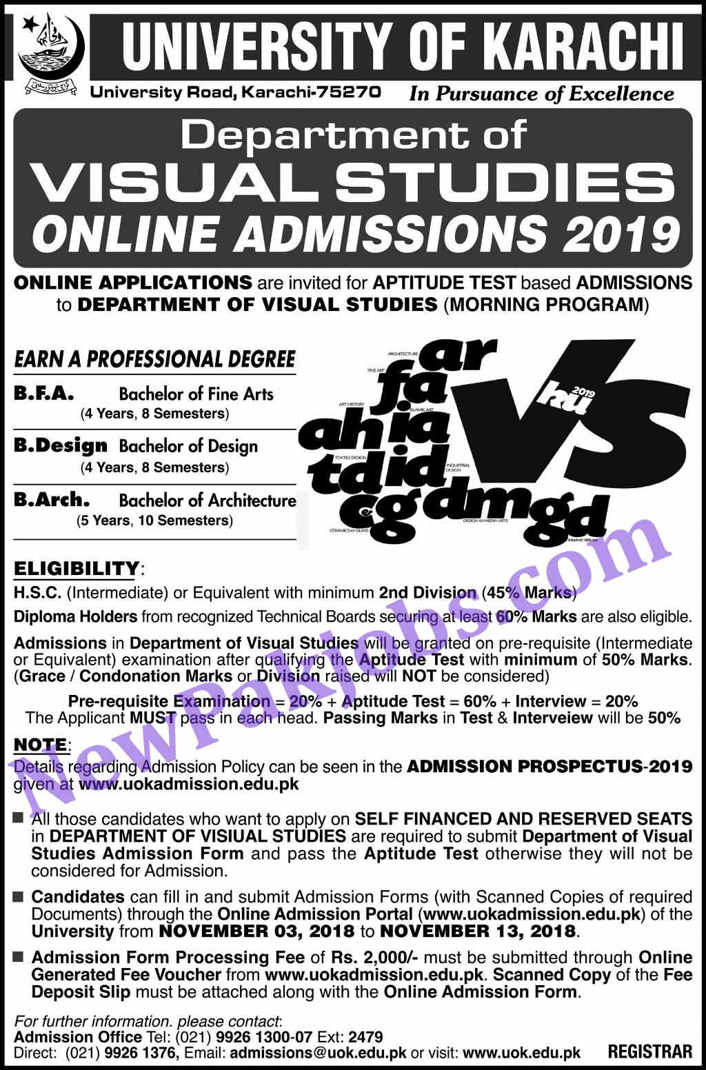 admissions-in-university-of-karachi