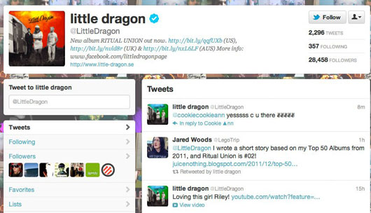 hey do you remember the time Little Dragon retweeted me?