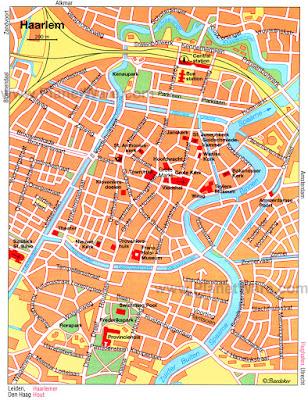Mapa de Haarlem, Holanda