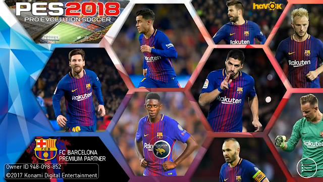 بيس 2018 للندرويد باتش برشلونة باخر اصدار