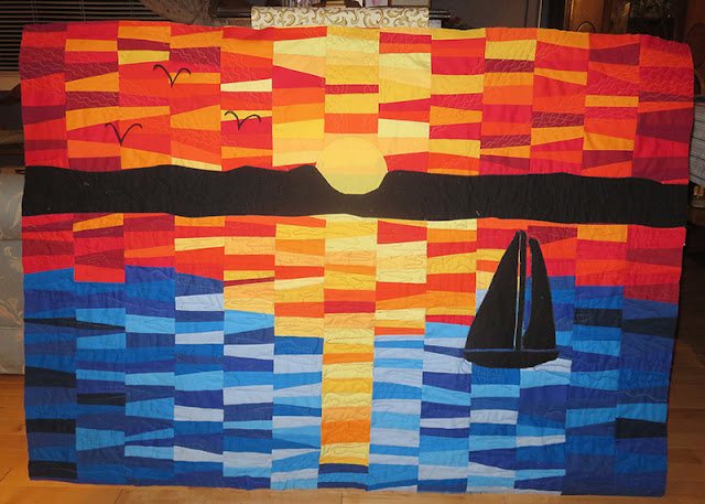 Pieced Art Quilt by Mary Elizabeth O'Toole