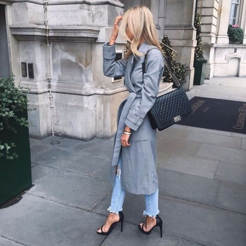 The Glow Edit, Grey Trench Coat, Chanel Boy Bag