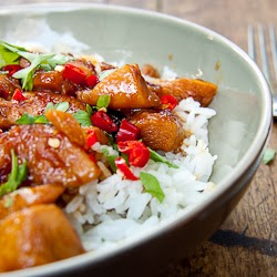 how to make healthy sticky chicken with basmati rice easy recipe