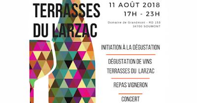 Vin - Vos événements à ne pas manquer en Août 2018 Soirée dégustation Terrasses du Larzac à Soumont