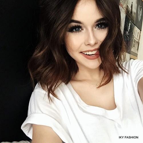 Model gaya Rambut Pendek Wanita Sweet kekinian