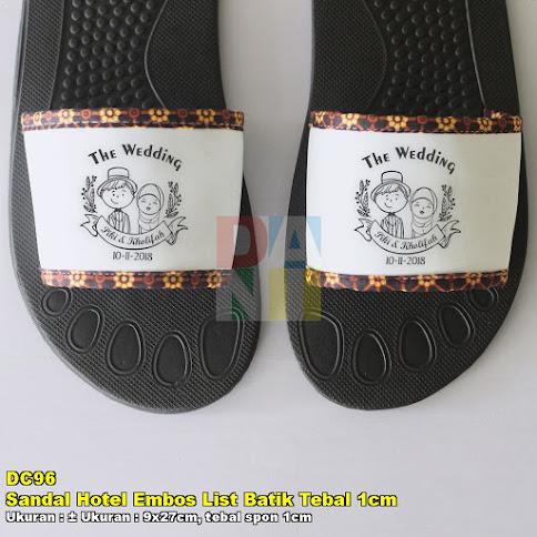Sandal Hotel Embos List Batik Tebal 1cm