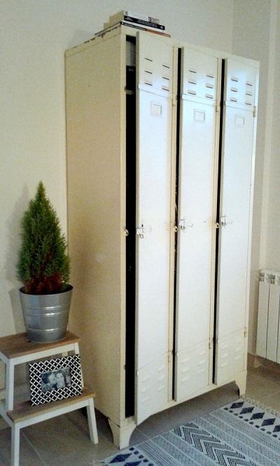 Taquillas vintage blancas, venta de taquillero antiguo vintage. muebles industriales online, valencia