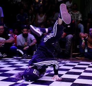 Do Brasil, A B Girl Angel de 8 anos abrilhanta campeonato de breaking no Festival Santos Café