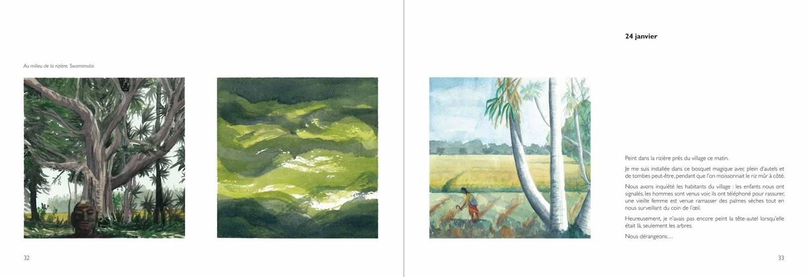 Carnet de voyage en Inde - Annik Reymond Michel Lizot 32-33