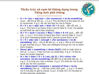 Các cấu trúc và cụm từ thông dụng trong Tiếng Anh