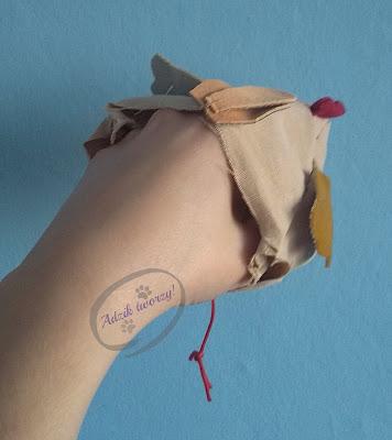 Adzik tworzy - jak uszyć kurę wielkanocną DIY ze ścinek