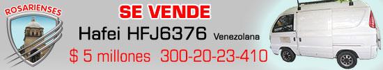 Vendo Camioneta HAFEI HFJ6376Venezolana en 5millones de pesos, en Villa del Rosario. www.rosarienses.com