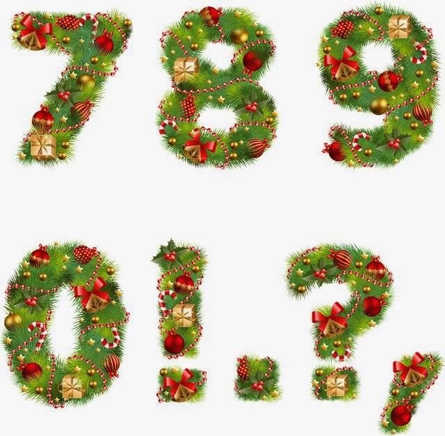 Numerais Coloridos Natal So Escola