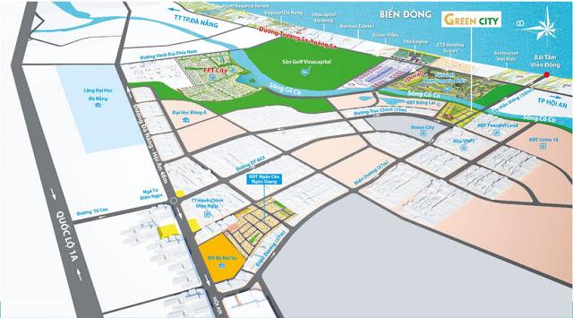 Vị trí dự án Green City Đà Nẵng