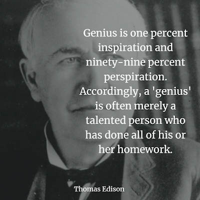 Thomas Edison Genius is one percent inspiration