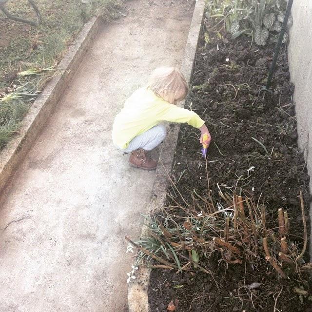 Jardiner avec un enfant retourner la terre plume picoti - Comment retourner la terre du jardin ...