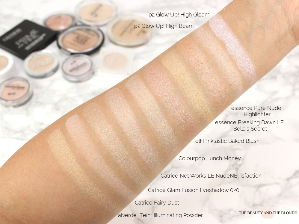 Drogerie Drugstore Highlighter Swatches Makeup Collection