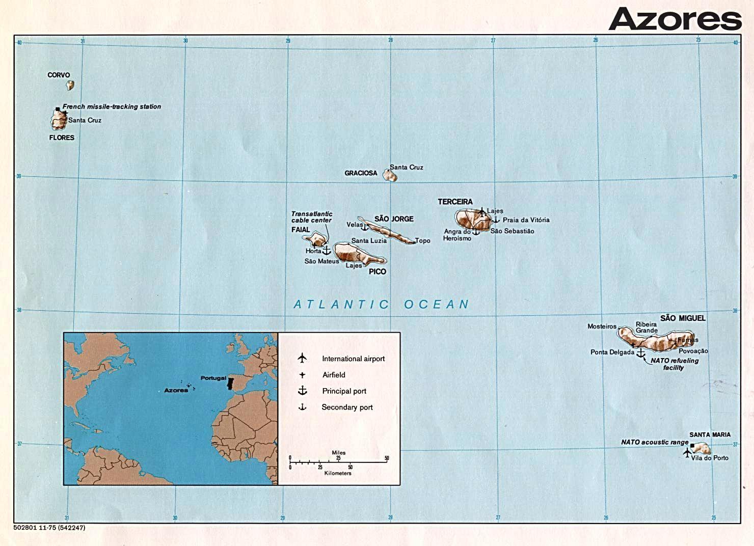 Azoren Karte Weltatlas.Azoren Por Weltatlas