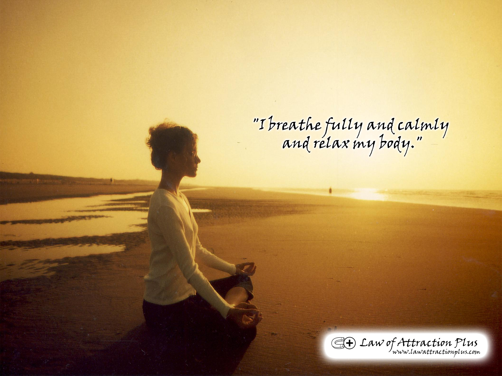 I Breathe Fully And Calmly And Relax My Body Wallpaper