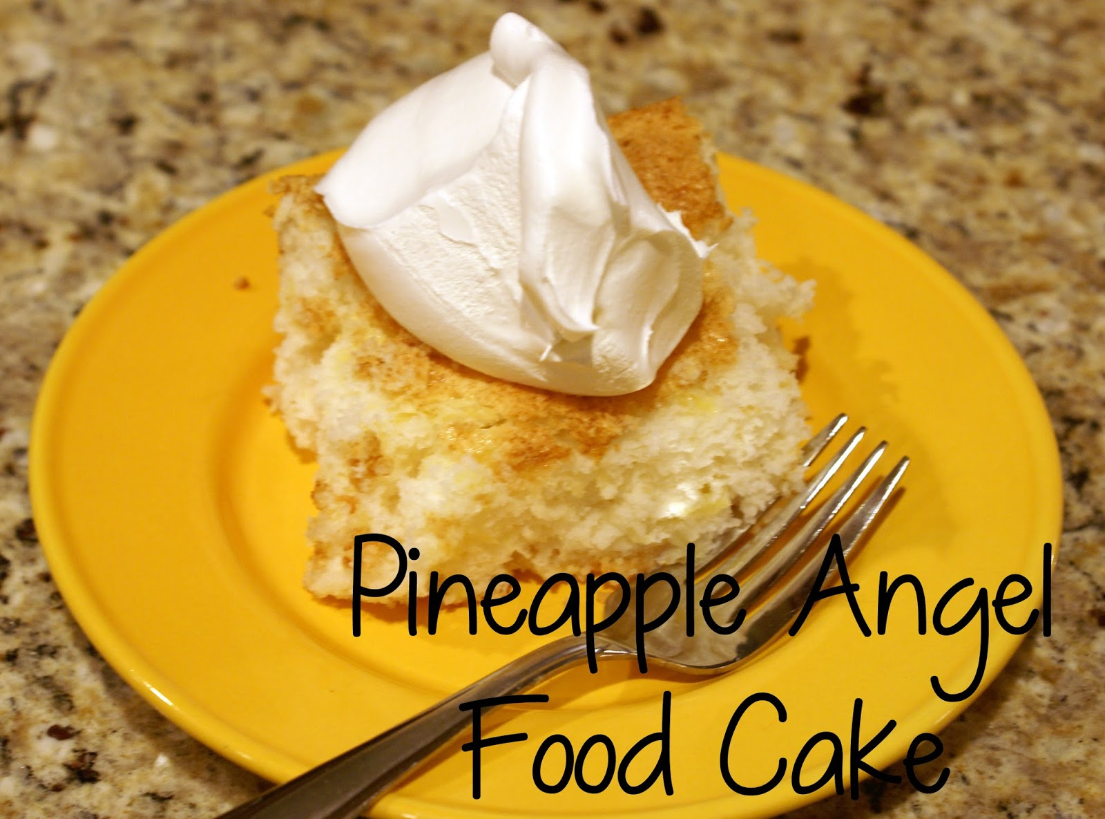 Pineapple And Angel Food Cake And Cool Whip