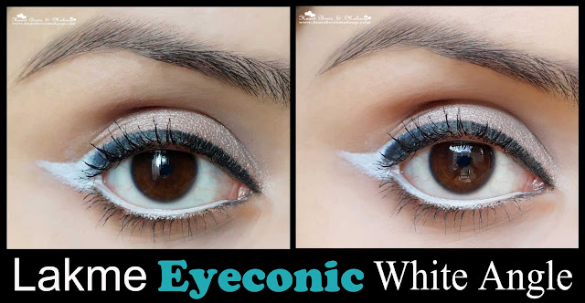 Lakme eyeconic white kajal review swatches price buy india