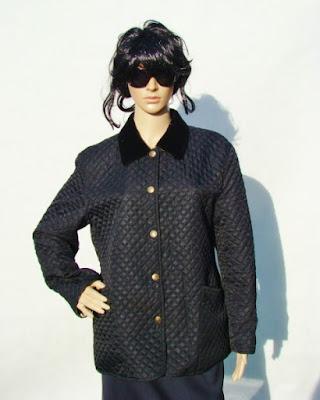 Burberry Prorsum czarna pikowana kurtka black quilted jacket fashion blog