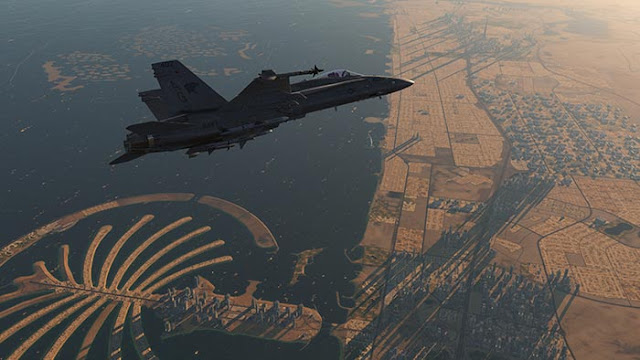 "DCS: F/A-18C ""Eyes over Dubai"" Wallpaper Engine"