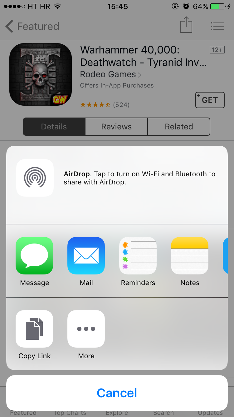 """iPhone: Unable to Share photo with Airdrop """"Unable to Share"""