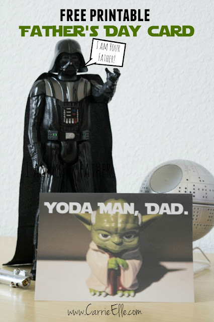 free printable fathers day card star wars