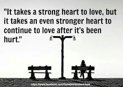 Learning to love Quotes with messages: It takes a strong heart to love, but it takes an even stronger heart to continue to love after it's been hurt