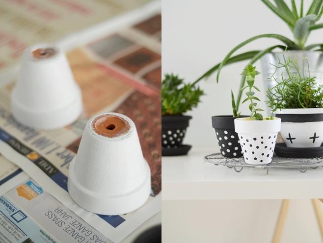 nachmachtipp bemalter blumentopf sinnenrausch diy und interior blog. Black Bedroom Furniture Sets. Home Design Ideas