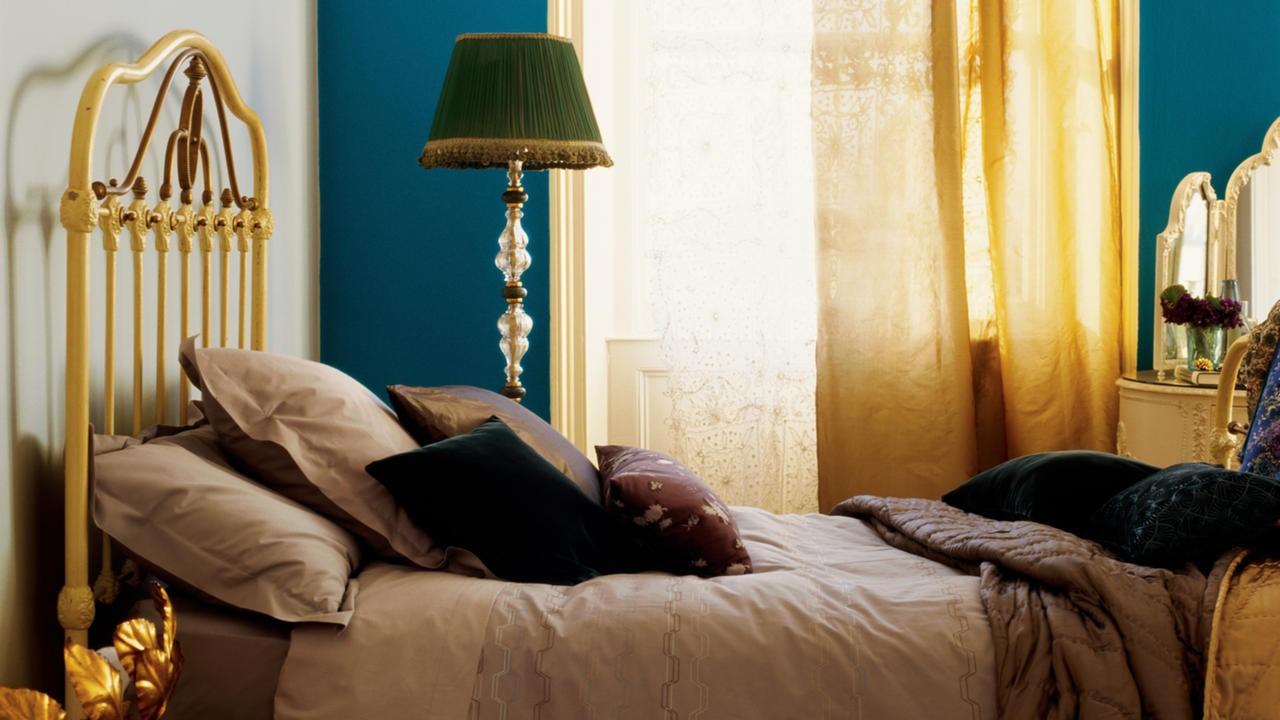 warna cat kamar tidur hijau toska 2