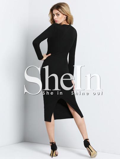 http://www.shein.com/Black-Long-Sleeve-Skinny-Split-Dress-p-234364-cat-1727.html