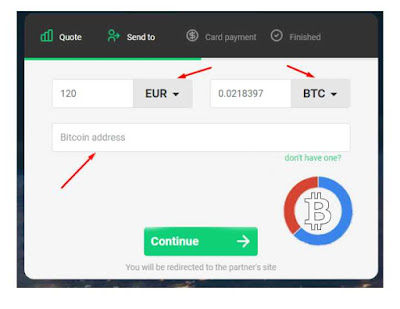 kali ini duniabitcoin.net akan menshare cara membeli bitcoin dengan kartu kredit di situs changelly.