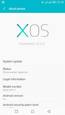 [ROM][6.0][V5.1] XOS Chameleon For Infinix Hot 2