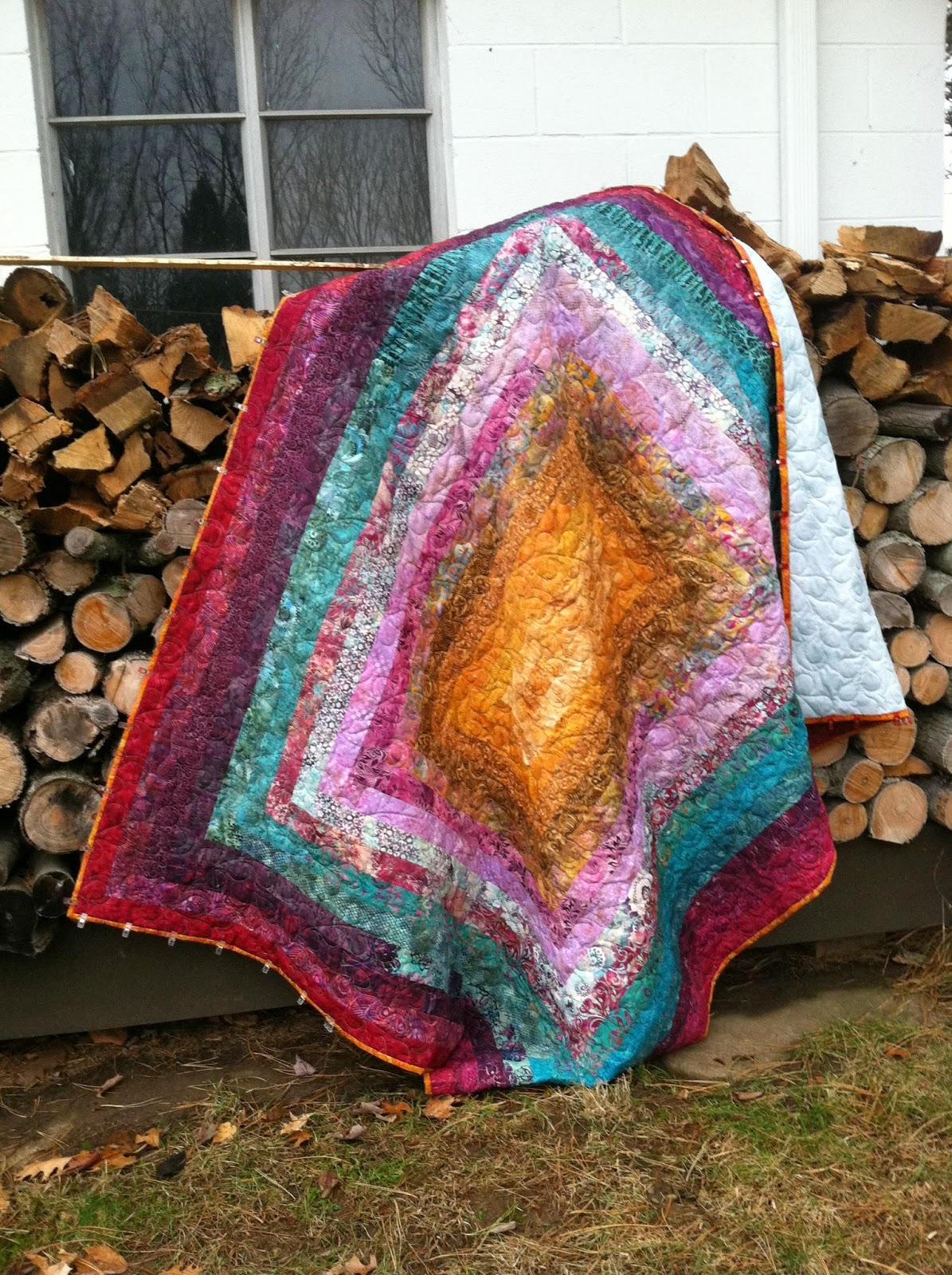 Jelly Roll Quilt - Big Block Jelly Logs
