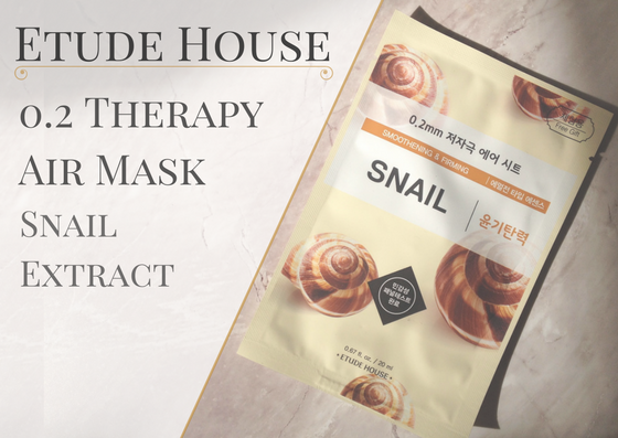 ZAMASKOWANA ŚRODA | ETUDE HOUSE 0.2 THERAPY AIR MASK SNAIL EXTRACT