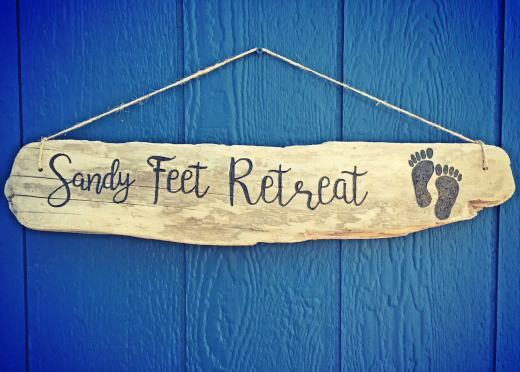 Custom Driftwood Sign Engraved