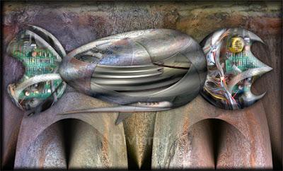 """""""Pez Experiencial - Experiential Fish"""". Flotabilidad de las Pinceladas Experienciales. Obra del Rivismo (Ramón Rivas  /Spain)"""