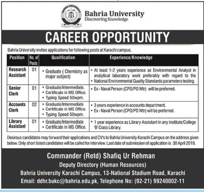 Teaching Jobs In Pak Bahria- Educators Jobs in Pakistan Navy
