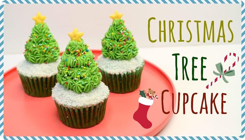 Christmas Tree Cupcake 聖誕樹杯子蛋糕