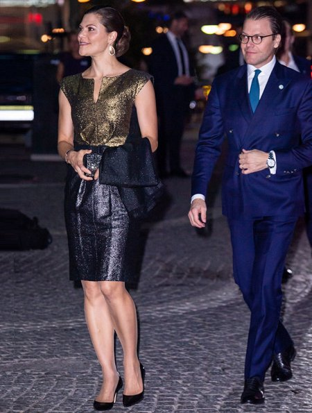 Queen Silvia. Crown Princess Victoria wore Charlotte Bonde Jewelry Sophie Petite earrings, Princess Sofia wore Stinaaj Pumps