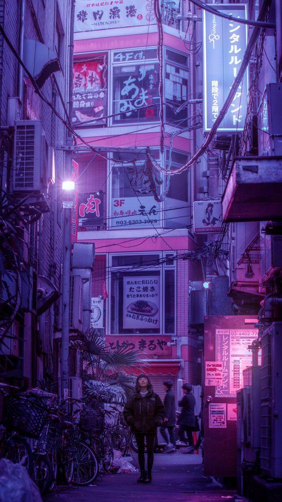 Hình ảnh cảnh Lofi về đêm