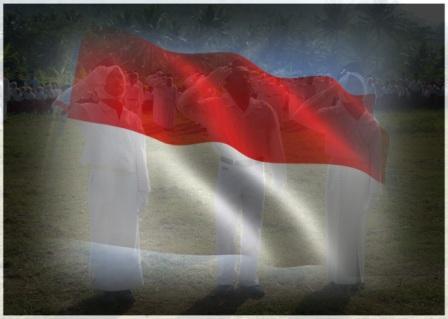 Gambar hormat bendera, sebagai sebuah pertanyaan, do'a, harapan untuk kejayaan Indonesia