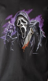 FRIGHT RAGS GHOST FACE DESIGN TSHIRT